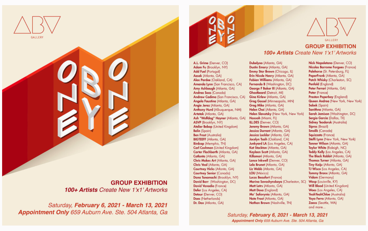 ABV Gallery One By One Exhibition