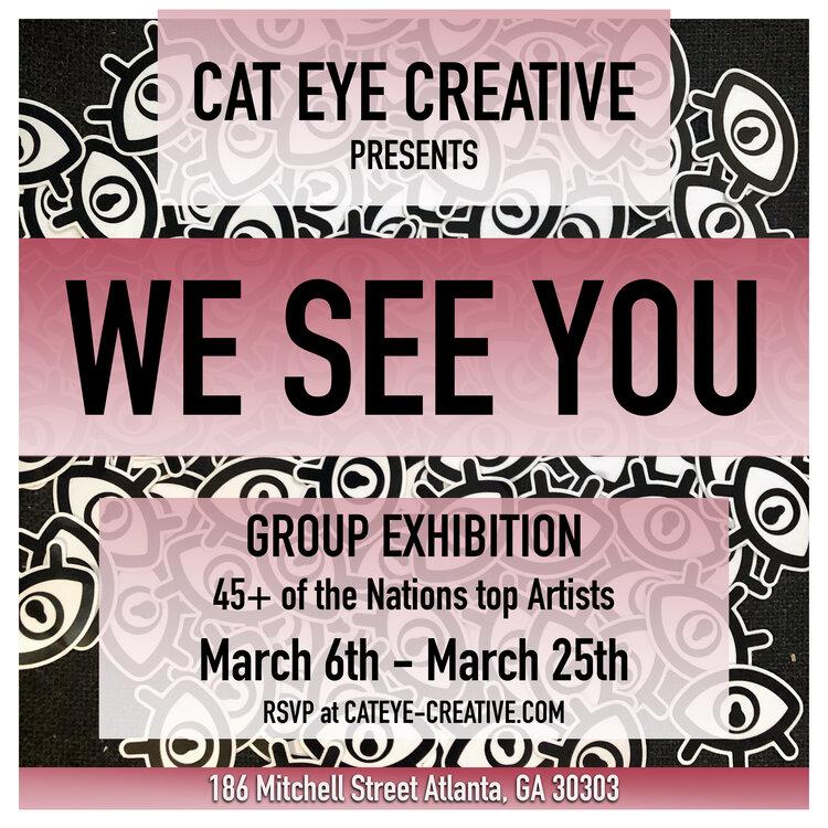 We See You exhibit flyer
