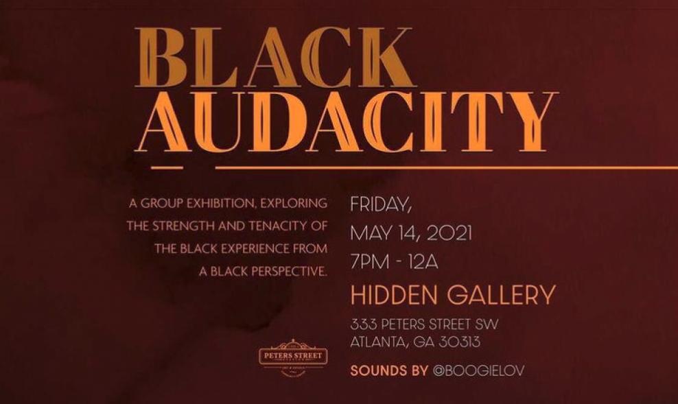 Black Audacity event flyer