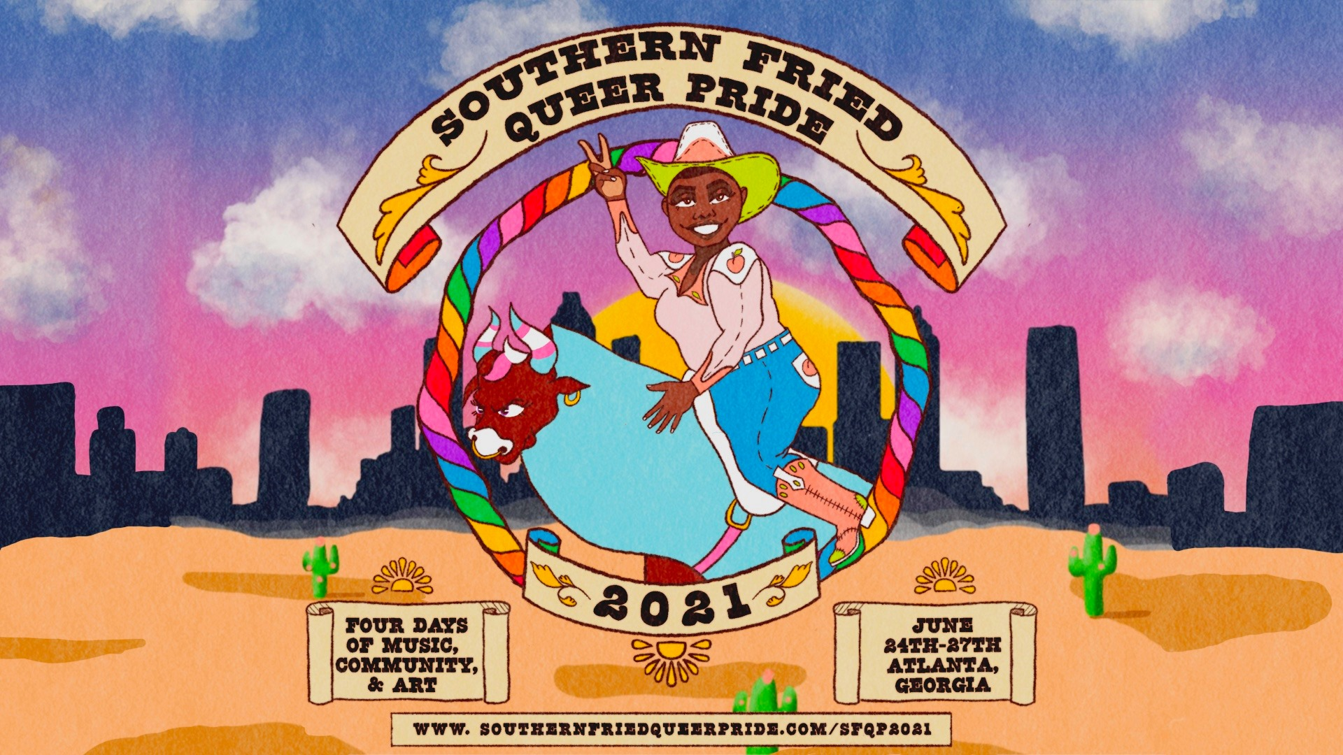 Southern Fried Queer Pride flyer